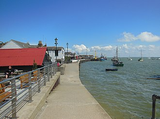Leigh-on-Sea - The Old Leigh waterfront at high tide
