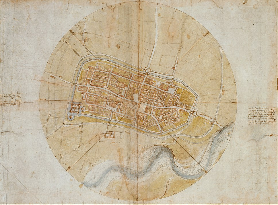 Leonardo da Vinci - Plan of Imola - Google Art Project