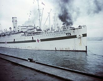 Pier 21 - Letitia as a hospital ship arriving at Pier 21