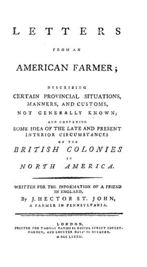 Letters from an American Farmer - Image: Letters From An American Farmer
