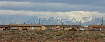 Leupp, looking west to the San Francisco Peaks