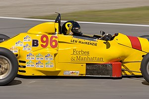 Lewis MacKenzie drives Formula Ford Car