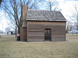 John Patton Log Cabin - Image: Lexington Il John Patton Log Cabin 2