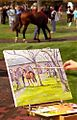 "Lexington Kentucky - Keeneland Race Track ""Painting the Paddock"" (2144435617) (2).jpg"