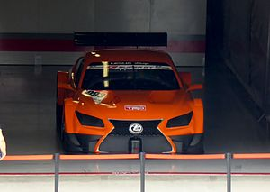 2014 Super GT Series - The Lexus LF-CC at its first public presentation at the 2013 42nd International Pokka Sapporo 1000km.
