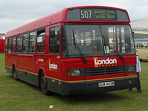 London Buses route 507 - London General Leyland National Greenway as used on route 507 between 1992 and 2002