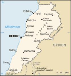 nettstedet til Libanon