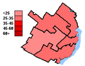 Liberal Party of Canada election results, Quebec City 2004.PNG