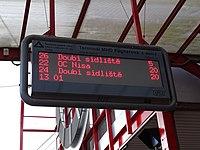 Liberec, Fügnerova, stání 2, ukazatel odjezdů.jpg
