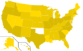 Libertarian Party presidential election results, 2004, ordinal (United States of America).png
