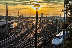 Berlin-Lichtenberg station - Railway tracks, view from Lichtenberger Brücke
