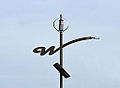 Light pole with 'w' on it, Windsor, Ontario, Canada 2014-12-07.jpg