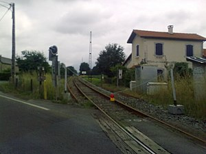 Pau–Canfranc railway - The Pau-Oloron-Sainte-Marie section during renovation, 2010