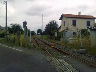 Pau–Canfranc railway - The Pau-Oloron-Sainte-Marie section during renovation, 2010