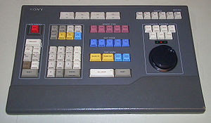 Linear video editing - A Sony BVE-910 linear editing system's keyboard