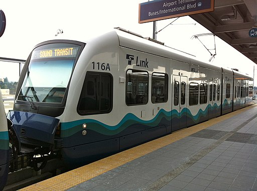 Link Light Rail 116 at SeaTac Airport Station