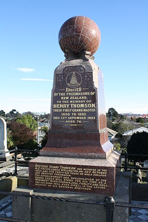 Henry Thomson (New Zealand politician) - Henry Thomson's grave at Linwood Cemetery