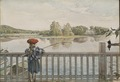Lisbeth Angling. From A Home (26 watercolours) (Carl Larsson) - Nationalmuseum - 24223.tif