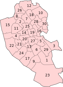 Liverpool City Council Wards - Numbered.svg