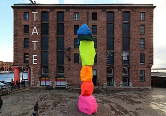 Ugo Rondinone - Liverpool Mountain installed outside Tate Liverpool in October 2018