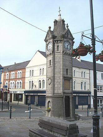 Llangefni - Image: Llangefni clock tower