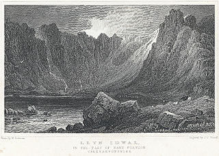 Llyn Idwal: in the pass of Nant Frangon, Caernarvonshire