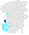 Localització de Compesposades respecte Montmajor i respecte del Berguedà.PNG