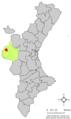 Localització de Fuenterrobles respecte del País Valencià.png