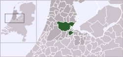 Location of Amsterdam