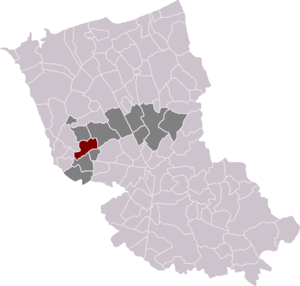 Volckerinckhove - Volckerinckhove location in arrondissement of Dunkirk and canton of Wormhout
