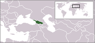 A map showing the location of Georgia