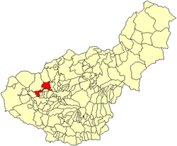 Location of Pinos Puente