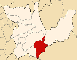 Pachitea Province - Image: Location of the province Pachitea in Huánuco