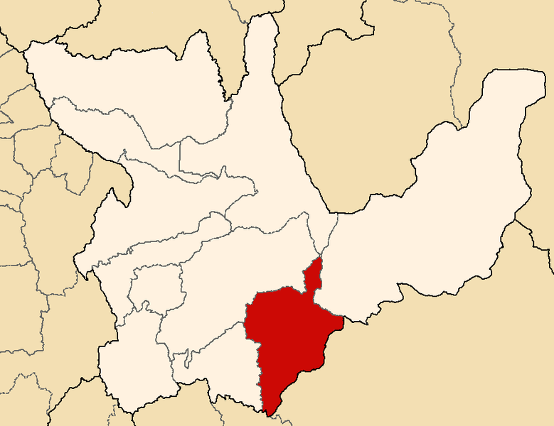 Ficheiro:Location of the province Pachitea in Huánuco.png