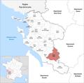 Locator map of Kanton Jonzac 2019.png