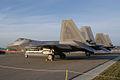 Lockheed-Martin F-22A-30-LM Raptor 05 107 LSideRear Dawn SNF 04April2014 (14563314696).jpg