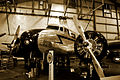 Lockheed 10A Electra New England Air Museum (sepia).jpg