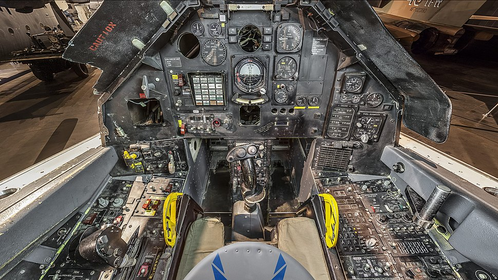 Lockheed F-117A cockpit at the National Museum of the United States Air Force, Dayton, Ohio, USA