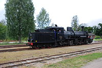 Swedish-built Mallet locomotive DONJ No 12 in Jädraås, Sweden, August 2009