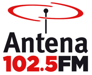 XHES-FM - Image: Logo Antena 102.5 FM XHES FM