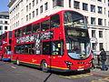 London Central WVL299 on Route 21, London Bridge (13762314155).jpg