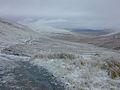 Looking down a frozen Cwm Llygad Rheidol - geograph.org.uk - 1616951.jpg