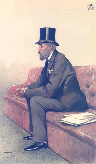 "Ivor Guest, 1st Baron Wimborne - ""Tennis"" As depicted by Théobald Chartran in Vanity Fair, 23 September 1882"