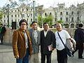 Los poetas Johnny Barbieri, Boris Espezùa, Leoncio Luque y Pedro Perales.JPG