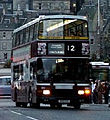 Lothian Buses bus Volvo Olympian Alexander Royale Madder and White livery route 12 November 2007.jpg