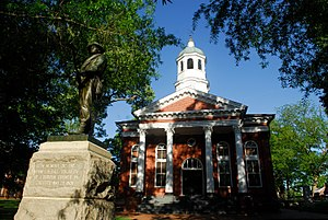 Leesburg, Virginia - The historic Leesburg courthouse serves as the seat of government for Loudoun County, Virginia