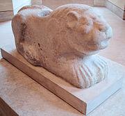 Statue de lion-gardien, règne de Puzur-Inshushinak, calcaire