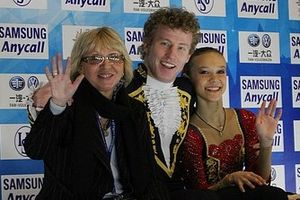Nodari Maisuradze - Iliushechkina and Maisuradze with coach Natalia Pavlova