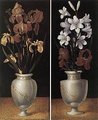 Vase de fleurs de lys