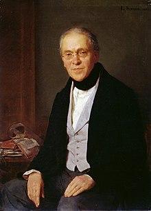 """""""Portrait of Gustav Friedrich Waagen""""; Ludwig Knaus (1855) (Source: Wikimedia)"""